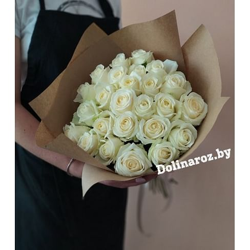 """Букет роз """"Блонд"""" 25 роз"""