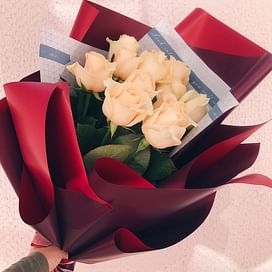 """Букет роз """"Персик"""" 11 роз"""