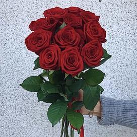 """Букет роз """"Бордо"""" 11 роз"""