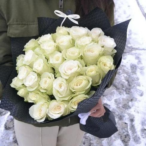 """Букет из роз """"Белый Рыцарь"""" 31 роза"""