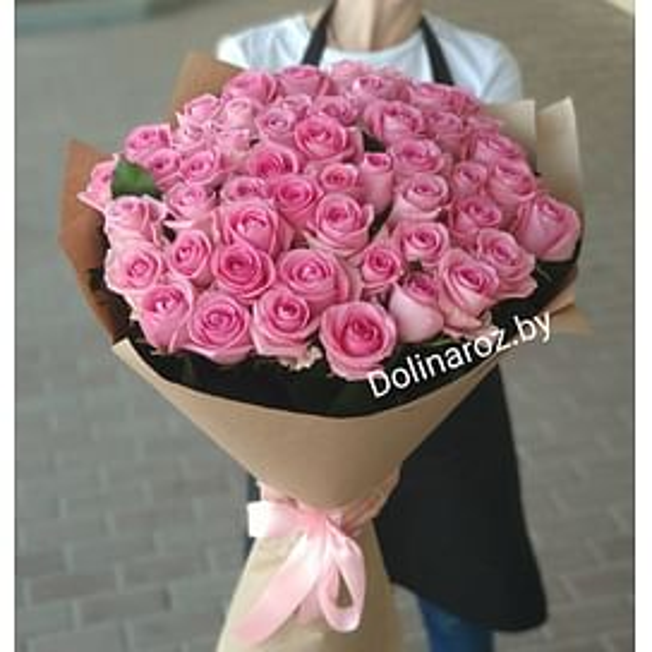 "Букет цветов ""Розовая Пантера"" 51 роза"