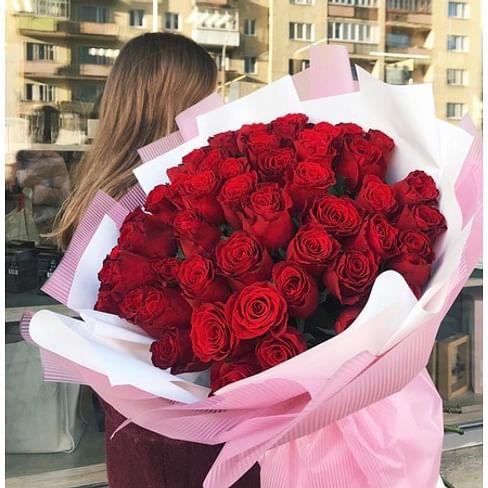 """Букет роз """"Сочный"""" 51 роза"""