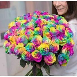 """Букет роз """"Радужный"""" 51 роза"""