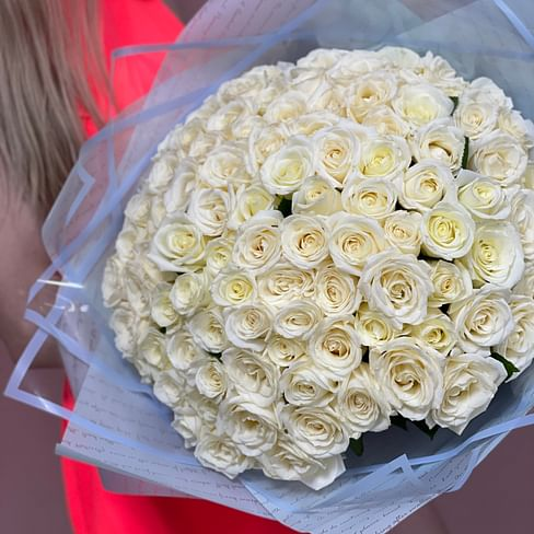 "Букет роз ""101 avalanche"" 101 роза"