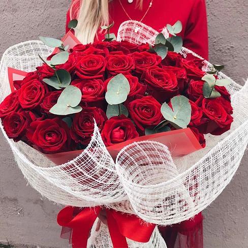 """Букет цветов """"Зелень"""" 51 роза"""