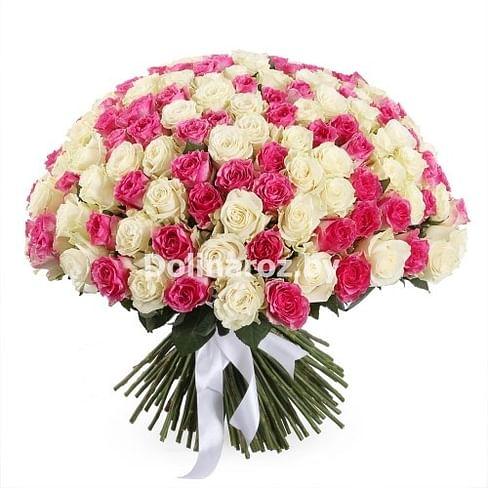 """Букет роз """"Неожиданный"""" 101 роза"""
