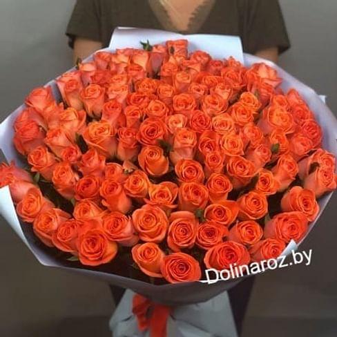 "Букет роз ""Закат"" 101 роза"