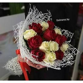 """Букет из роз """"Симпатия"""" 15 роз"""