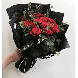 """Букет """"Красный стиль"""" 15 роз"""
