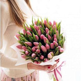 """Букет тюльпанов """"Розовенький"""""""