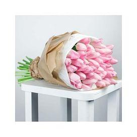 """Букет тюльпанов """"Розовая ночь"""" 51 шт."""