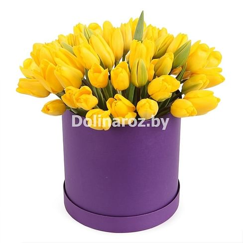 "Тюльпаны в коробке ""Лунный"""