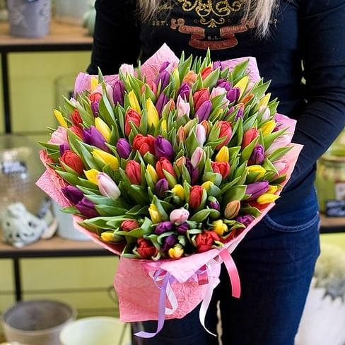 """Букет тюльпанов """"Миледи"""""""