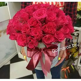Цветы в коробке №17 41 роза