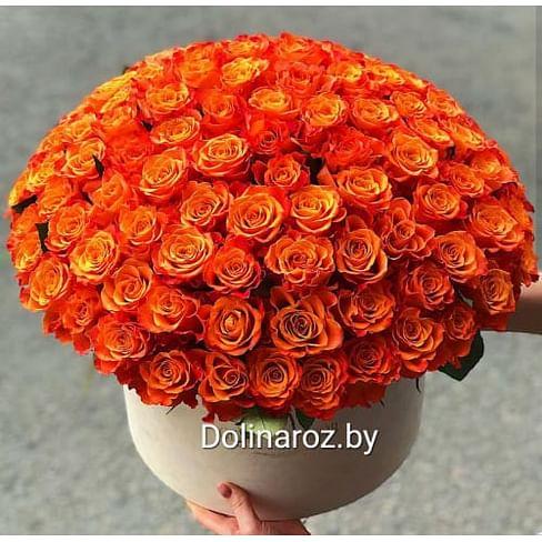 """Цветы в коробке """"101 Апельсин"""""""