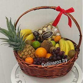 Корзина с фруктами и сладостями №3