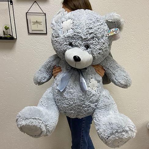 """Медведь """"Бомж"""" (100 см) Сидя 60 см"""