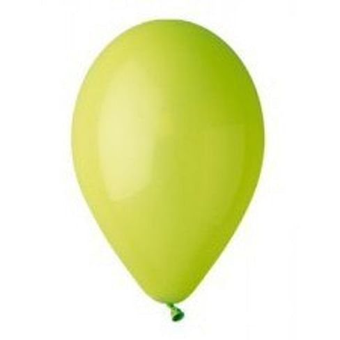 """Латексный шар с гелием """"Салатовый"""" 12"""" (30 см)"""