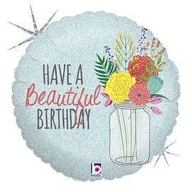 """Фольгированный шар """"Прекрасного дня рождения"""" 18″ (46 см)"""
