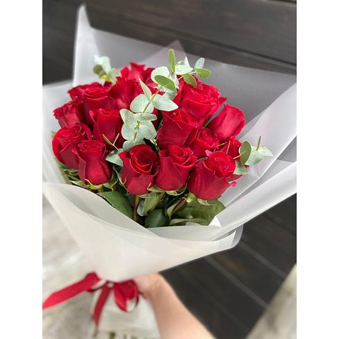 """Букет """"Красная Магия"""" 21 роза"""