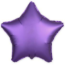 """Фольгированный шар """"Фиолетовая звезда, сатин"""" 18″ (46 см)"""