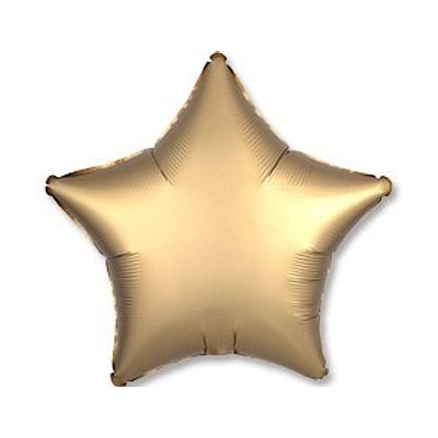 """Фольгированный шар """"Звезда, Голден Сатин"""" 18″ (46 см)"""