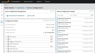 Server Configuration Monitor SCM10 SolarWinds (up to 10 Managed Servers) - License with 1st-Year Maintenance