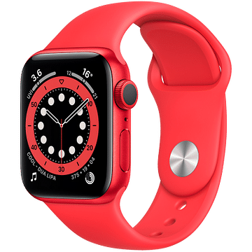 Apple Watch Series 6 GPS, 40mm PRODUCT(RED) Aluminium Case with PRODUCT(RED) Sport Band - Regular Apple M00A3