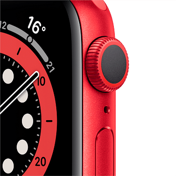 Apple Watch Series 6 GPS, 44mm PRODUCT(RED) Aluminium Case with PRODUCT(RED) Sport Band - Regular Apple M00M3