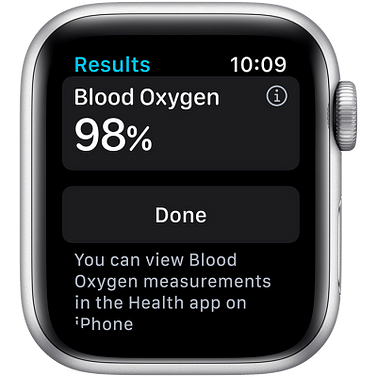 Apple Watch Series 6 GPS, 40mm Silver Aluminium Case with White Sport Band - Regular Apple MG283