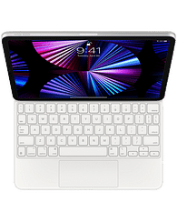 Magic Keyboard for iPad Pro 11-inch (3rd generation) and iPad Air (4th generation) - Russian - White, Model A2261 Apple MJQJ3RS/A