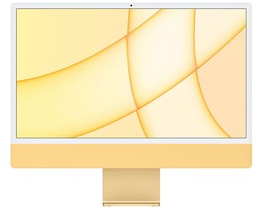24-inch iMac with Retina 4.5K display: Apple M1 chip with 8-core CPU and 8-core GPU, 256GB - Yellow, Model A2438 Apple YEL24RU/A