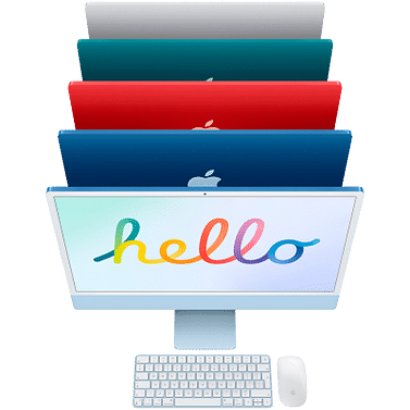 24-inch iMac with Retina 4.5K display: Apple M1 chip with 8-core CPU and 8-core GPU, 256GB - Orange, Model A2438 Apple ORA24RU/A