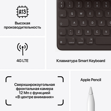 "IPad 10,2"" (2021) Wi-Fi + Cellular 256 ГБ, серебристый Apple"