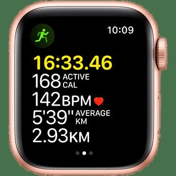 Apple Watch SE GPS, 40mm Gold Aluminium Case with Starlight Sport Band - Regular Apple MKQ03GK/A
