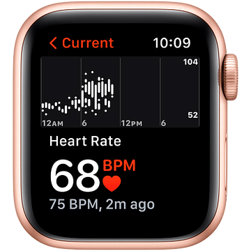 Apple Watch SE GPS, 44mm Gold Aluminium Case with Starlight Sport Band - Regular Apple MKQ53GK/A