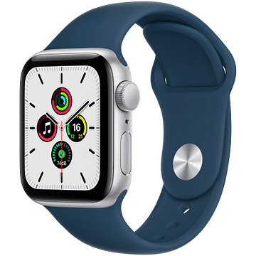 Apple Watch SE GPS, 40mm Silver Aluminium Case with Abyss Blue Sport Band - Regula Apple MKNY3GK/A