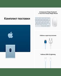24-inch iMac with Retina 4.5K display: Apple M1 chip with 8-core CPU and 8-core GPU, 256GB - Blue, Model A2438 Apple MGPK3RU/A