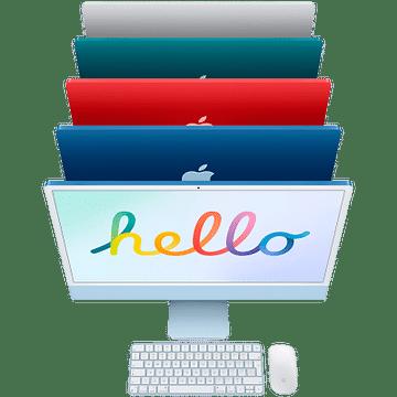 24-inch iMac with Retina 4.5K display: Apple M1 chip with 8-core CPU and 8-core GPU, 256GB - Pink, Model A2438 Apple MGPM3RU/A