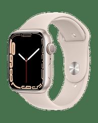 Apple Watch Series 7 GPS, 45mm Starlight Aluminium Case with Starlight Sport Band - Regular, A2474 Apple MKN63GK/A
