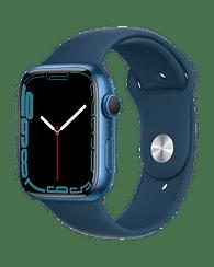 Apple Watch Series 7 GPS, 45mm Blue Aluminium Case with Abyss Blue Sport Band - Regular, A2474 Apple MKN83GK/A
