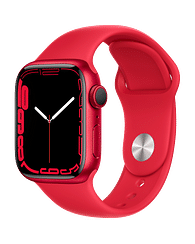 Apple Watch Series 7 GPS, 41mm (PRODUCT)RED Aluminium Case with (PRODUCT)RED Sport Band - Regular, A2473 Apple MKN23GK/A