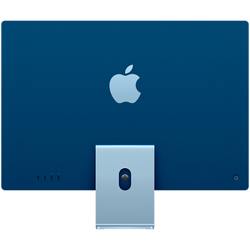 24-inch iMac with Retina 4.5K display: Apple M1 chip with 8-core CPU with 4 performance cores and 4 efficiency cores, 8-core GPU, and 16-core Neural Engine, 16GB unified memory, 512GB SSD - Blue, Model A2438 Apple Custom