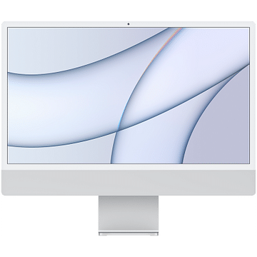24-inch iMac with Retina 4.5K display: Apple M1 chip with 8-core CPU with 4 performance cores and 4 efficiency cores, 8-core GPU, and 16-core Neural Engine, 16GB unified memory, 512GB SSD - Silver, Model A2439 Apple Custom