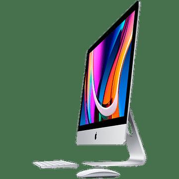 27-inch iMac with Retina 5K display: 3.1GHz 6-core 10th-generation Intel Core i5 processor/Turbo Boost up to 4.5GHz/8GB 2666MHz DDR4 memory/256GB SSD storage/Radeon Pro 5300 with 4GB of GDDR6 memory/Retina 5K 5120-by-2880 P3 display with True Tone Apple MXWT2RU/A