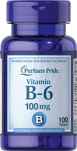 Витамины Puritan's Pride Vitamin B-6 (Pyridoxine Hydrochloride) 50 мг 100 таблеток Puritan's Pride