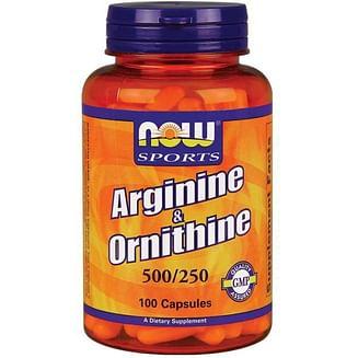 Л-аргинин NOW Arginine & Ornithine 100 капсул NOW