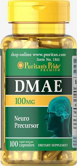 Антиоксидант Puritan's Pride DMAE 100 мг 100 капсул Puritan's Pride
