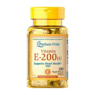 Витамины и минералыPuritan's PrideVitamin E 90 mg (200 IU)100 softgels Puritan's Pride