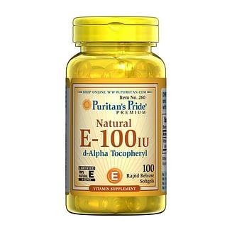Puritan's PrideVitamin E 67 mg natural (100 IU) alpha tocopheryl100 softgels Puritan's Pride